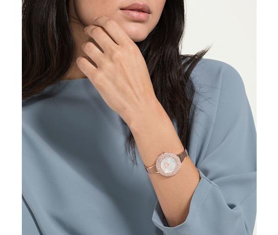 Orologio crystal rose  bracciale di metallo  bianco  pvd oro rosa swarovski 5484073 %282%29