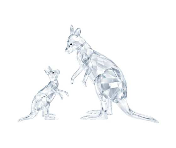 Kangaroo mother with baby swarovski 5428563