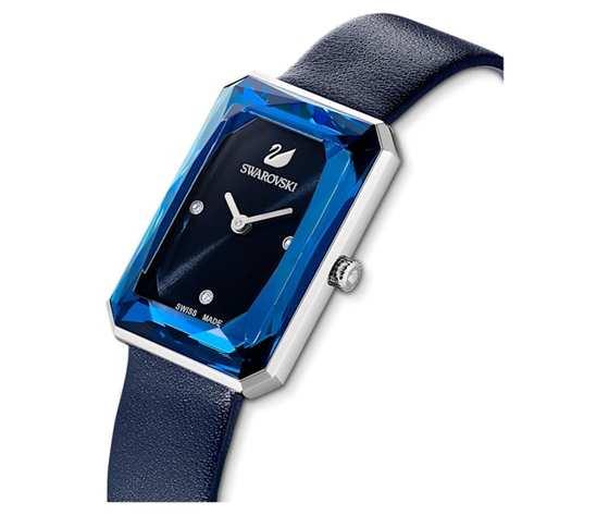 Orologio uptown  cinturino in pelle  blu  acciaio inossidabile swarovski 5547713 %282%29