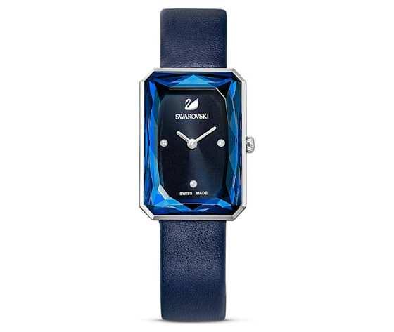 Orologio uptown  cinturino in pelle  blu  acciaio inossidabile swarovski 5547713