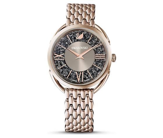 Orologio crystalline glam  bracciale di metallo  grigio  pvd tonalit%c3%a0 oro champagne swarovski 5452462