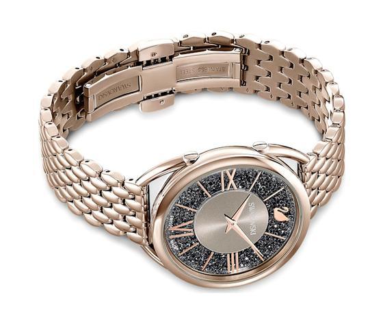 Orologio crystalline glam  bracciale di metallo  grigio  pvd tonalit%c3%a0 oro champagne swarovski 5452462 %282%29