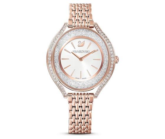 Orologio crystalline aura  bracciale di metallo  tono oro rosa  pvd oro rosa swarovski 5519459