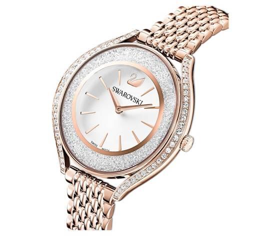 Orologio crystalline aura  bracciale di metallo  tono oro rosa  pvd oro rosa swarovski 5519459 %282%29