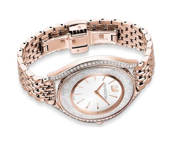 Orologio crystalline aura  bracciale di metallo  tono oro rosa  pvd oro rosa swarovski 5519459 %281%29