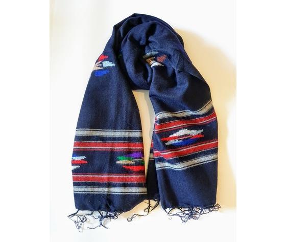 003snb sciarpa lana navajo blu