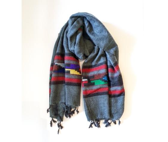 003sng sciarpa lana navajo grigio
