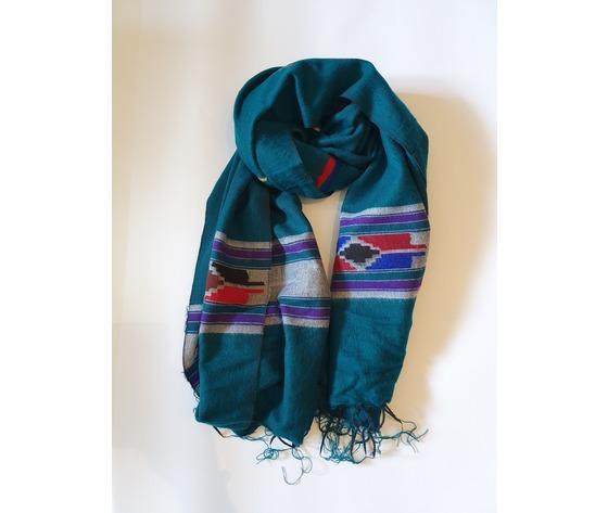 003snq sciarpa lana navajo acquamarina