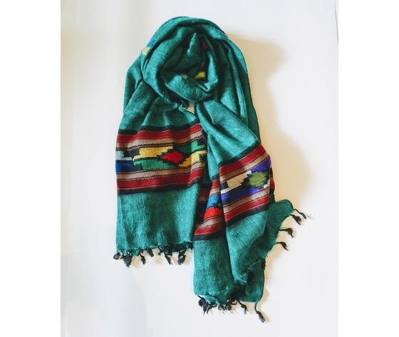 003snt sciarpa lana navajo turchese