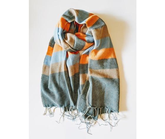004sra sciarpa lana righe arancione
