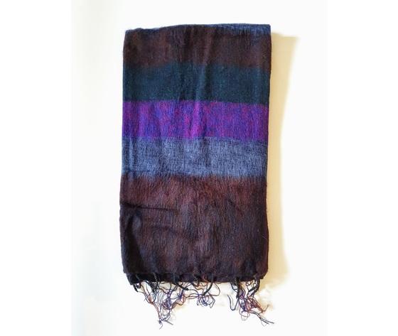 004srb sciarpa lana righe bruciato