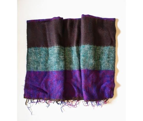 004srl sciarpa lana righe lilla