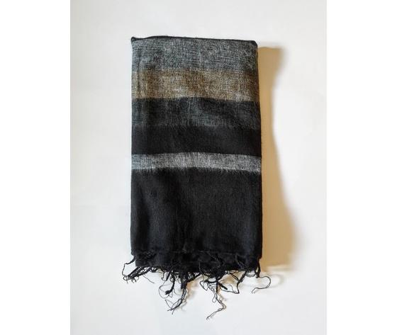 004srn sciarpa lana righe nero