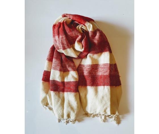 004srr sciarpa lana righe rossa