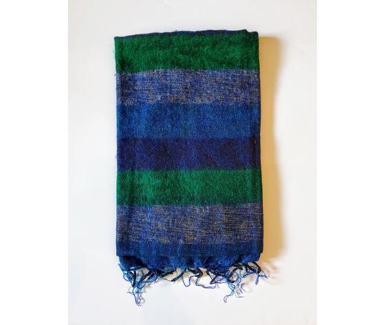 004srv sciarpa lana righe verde
