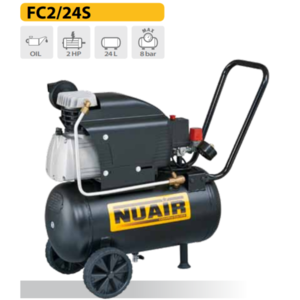 Compressore coassiale lubrificato 2 HP 24 LT 8 BAR NUAIR FC2/24S FCCC404NUB550