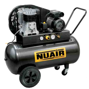 Compressore bicilindrico 2 HP 100 LT 10 BAR NUAIR B2800B/2M/100 TECH 28FA404NUA