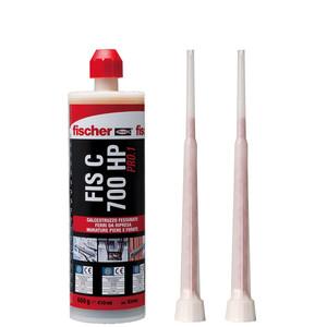 Ancorante chimico in vinilestere ibrido con 2 miscelatori 410ml FISCHER FIS C 700 HP PRO.1 cod. 93446
