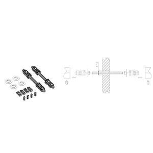 Fissaggio doppio per maniglioni NYLON COMUNELLO F0018