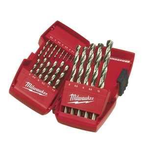 Cassetta di plastica 19 pezzi punte metallo THUNDERWEB HSS-G - DIN 338 MILWAUKEE cod. 4932352374