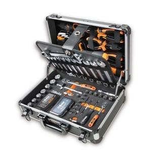 Valigia con set di 128 utensili per manutenzione generale BETA 2054E/I-128 cod. 020540012