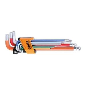Serie di 9 chiavi colorate a brugola testa esagonale-sferica  BETA 96BP-CL/SC9 cod. 000961619