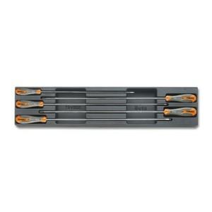 Modulo rigido  con 5 giraviti Beta Max per viti lama piatta e Phillips modello lungo BETA T183 cod. 024240183