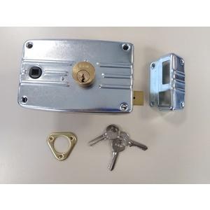 Serratura dx con quadro maniglia per serramenti metallici ISEO PORTONCINO cod. 485604