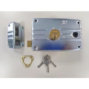 Serratura sx con quadro maniglia per serramenti metallici ISEO PORTONCINO cod. 486604