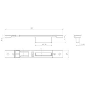 Contropiastra 29x229 mm acciaio nero chiusa regolabile per serratura centrale PERFORMA ISEO cod. 038630