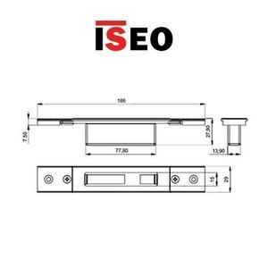 Contropiastra 29x186 mm acciaio nero chiusa  regolabile per deviatori PERFORMA ISEO cod. 038720