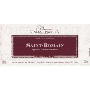 Domaine Vincent Prunier - Saint-Romain 2018