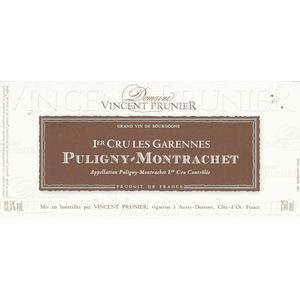 """Domaine Vincent Prunier - Puligny-Montrachet """"Les Garennes"""" 2018"""