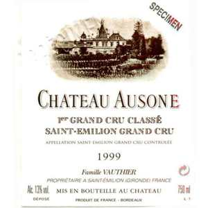Château Ausone 1er Grand Cru Classé 1999