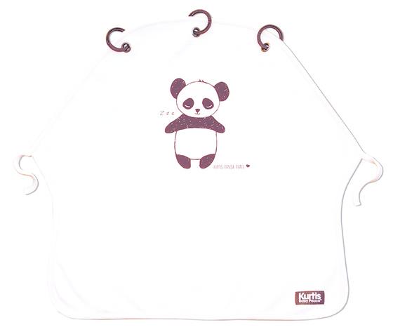 Pram curtain panda black white kurtis