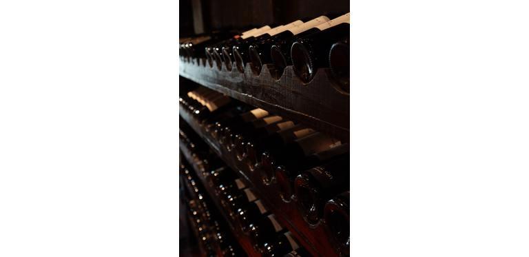 Cellar with wine bottles 774455