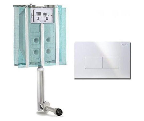 Cassetta scarico ad incasso doppio pulsante wc water placca bianca pucci eco p 1349558 11949159 1