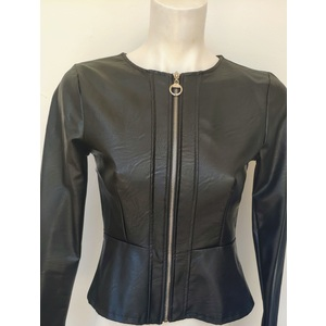 GIACCA DONNA CON ZIP ECOPELLE