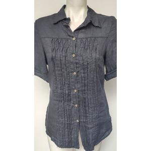 Camicia Donna Lino Blue