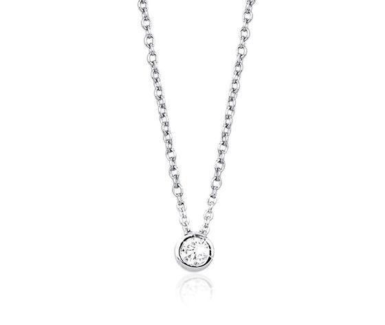 0005528 collana punto luce in argento e zirconi gioielli mabina 553013 750