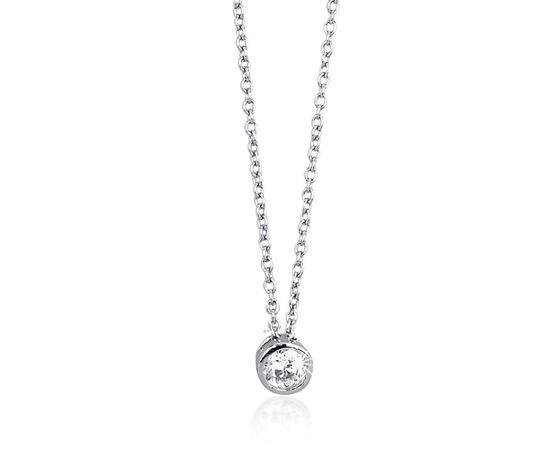 0005563 girocollo punto luce in argento e zirconi gioielli mabina 553021 750