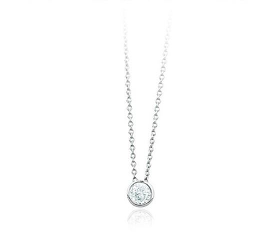 Girocollo donna argento e zirconi 553062