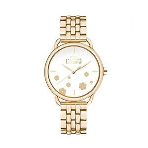 orologio donna miss laura acciaio dorato solo tempo MLWAGA424