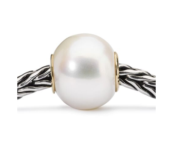 Perla bianca con or