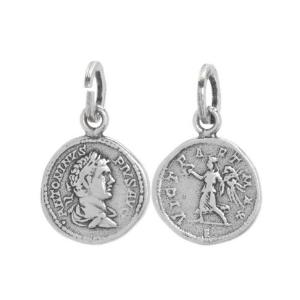 BB0354 Ciondolo Suali Moneta Antica
