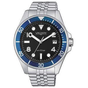 orologio con cassa e bracciale in acciaio