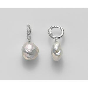 MO7294A4FDBI130 Orecchini Mikiko Perle Barocche Argento 925 e Zirconi