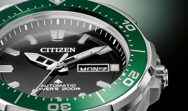 Citizen ny0071 81e promaster divers meccanico supertitanio sub verde 2