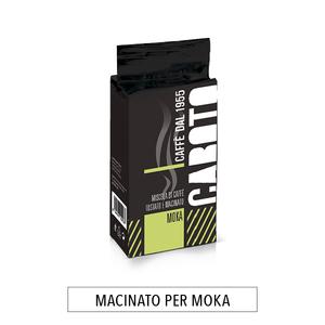 Buste da 250 g.CAFFÈ MACINATO PER MOKA  CAFFE'  CABOTO