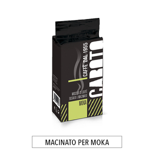 4 buste da 250 g.CAFFÈ MACINATO PER MOKA caffè CABOTO